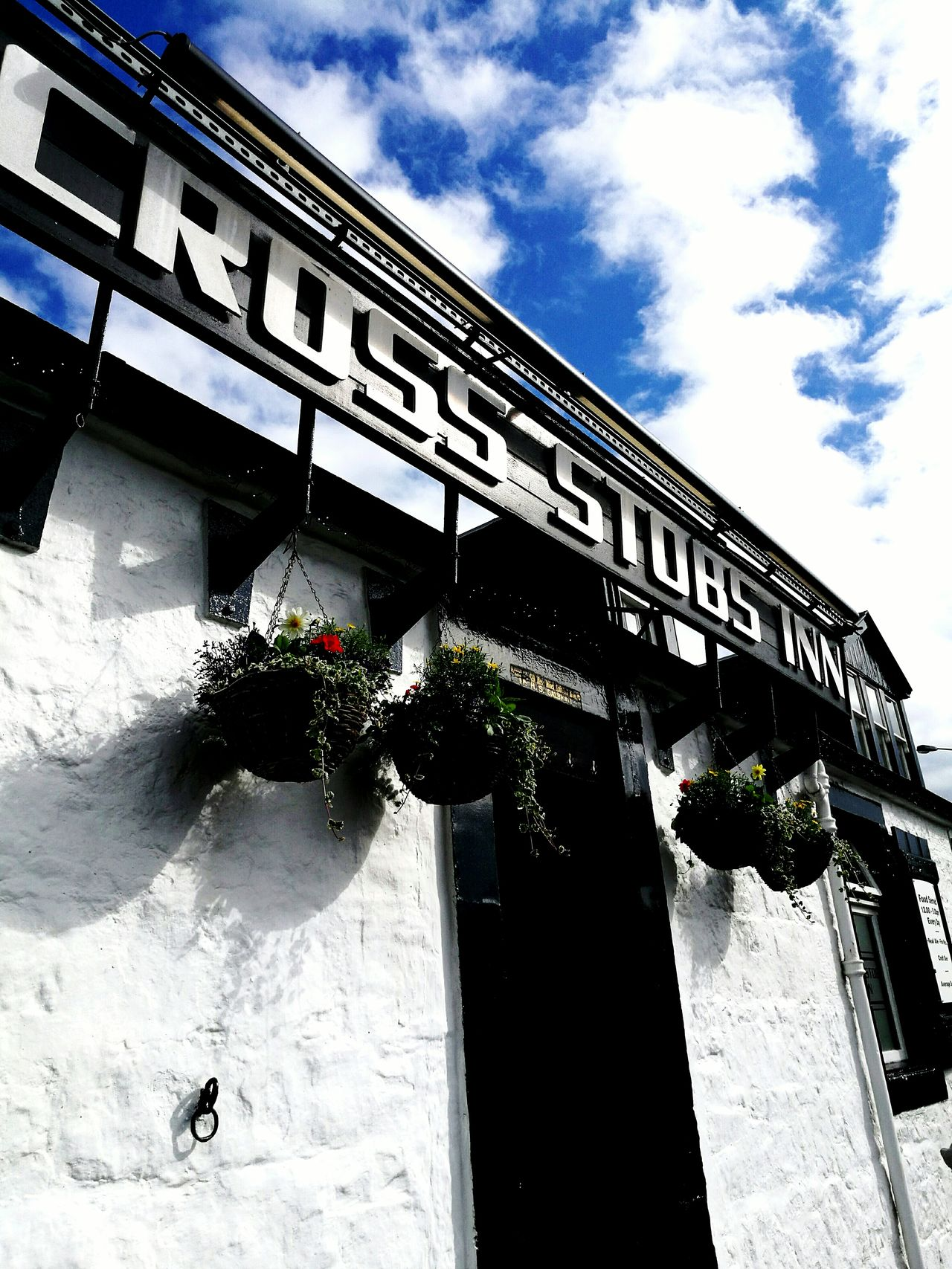 Architecture Built Structure Building Exterior Day Low Angle View Cloud - Sky Outdoors Sky Plant No People Flower Pub Beer Garden. Sunny Day Summer Old Buildings