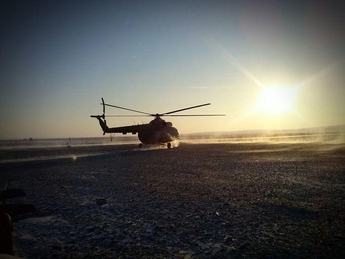 Helicopter Winter Nord Tiksi Yakutia