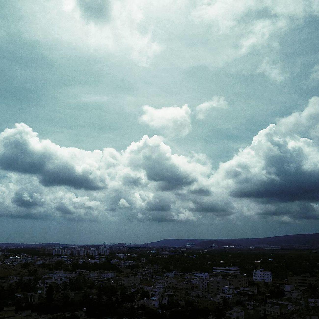 Amazing clounds. City Cloud - Sky Sky High Angle View Cloudy Horizon Over Land Wide Nature Cloud Followback Clear Sky Follow4follow Scenics Beauty In Nature India_clicks Nature Followme Visakhapatnam