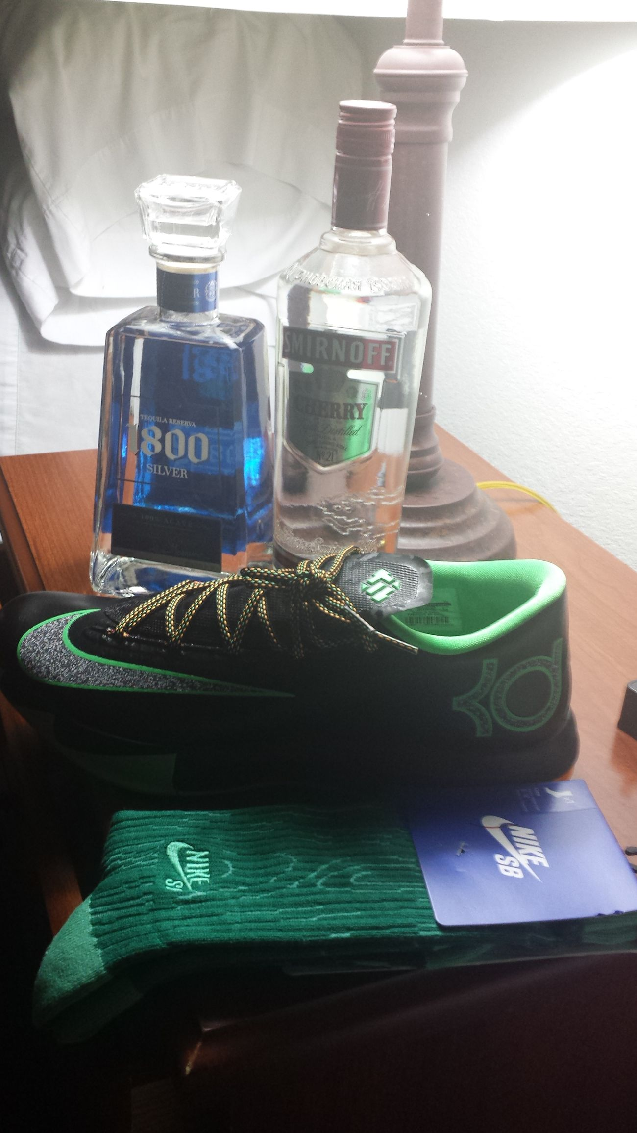 Bday tomorrow got me something's early. 1800 Sliver  Vodka Kds 6