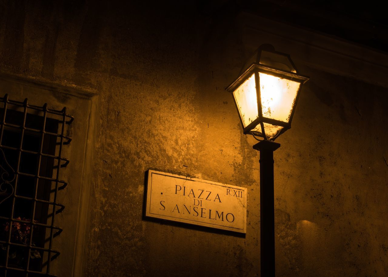 Nightlights. Lighting Equipment Illuminated Low Angle View Electricity  Text Night Street Lamp Architecture Europe Roma Rome Rome Italy Italy❤️ Italia Bella Italia Night Photography Night Lights Nightphotography Lantern Window Windows Architecture Architecturelovers Dark Travel Destinations