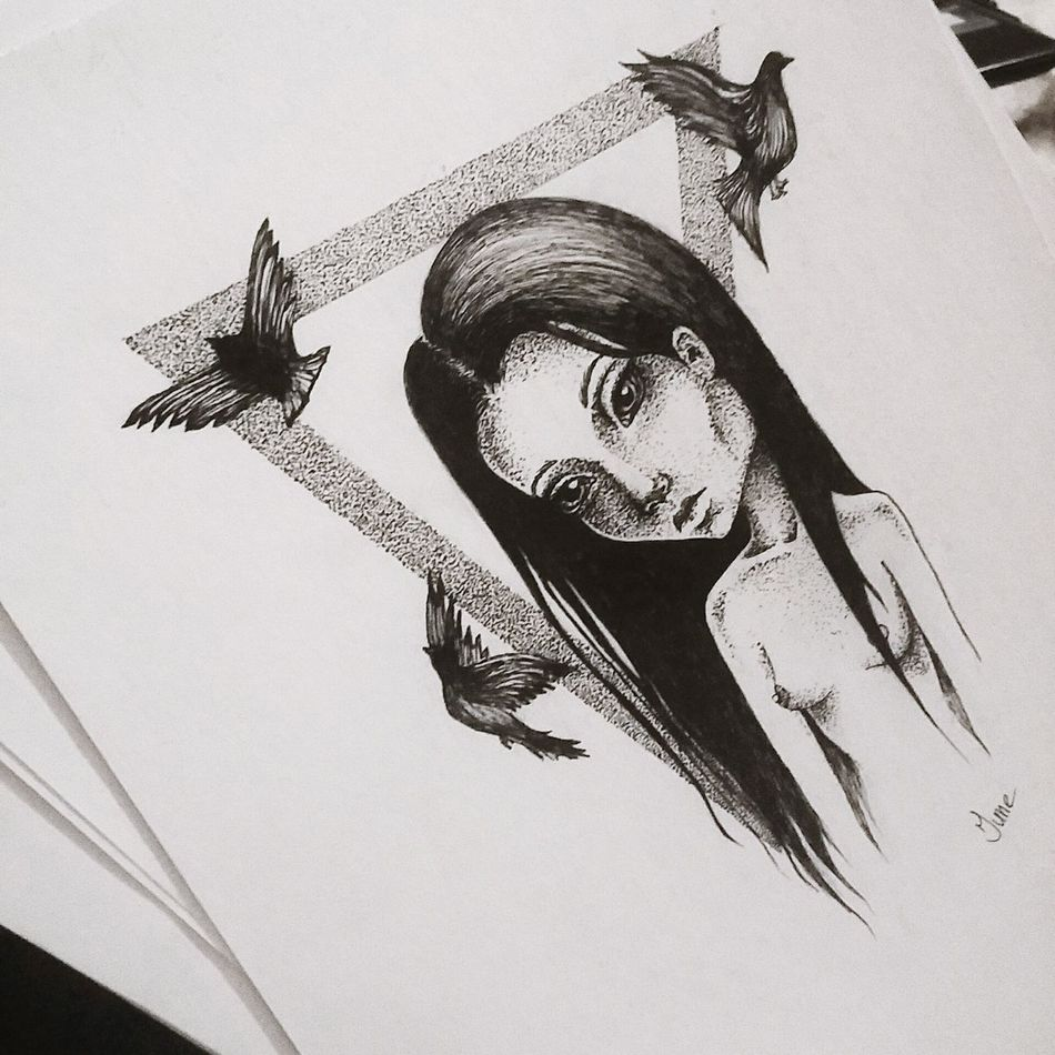 Tattoopins Drawing Art, Drawing, Creativity рисую June Art Black And White Dotwork Beautiful Art