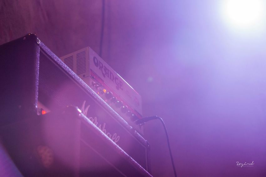 Consert photography. image taken at Tangen Rock Festival 2013. Norway Consert Marshall Orange