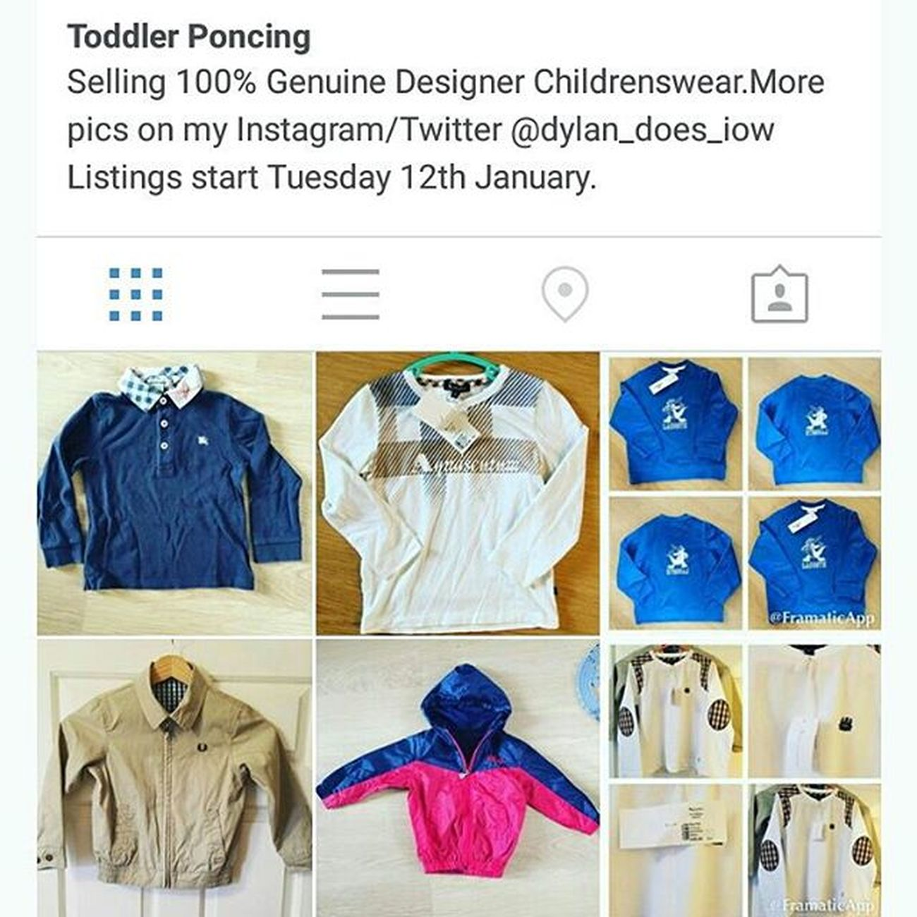 If you are looking for some casual Kids clobber check out @toddlerponcing for some stunning brands like CPCompany Aquascutum some New and some have plenty of life left in it to give it a second change
