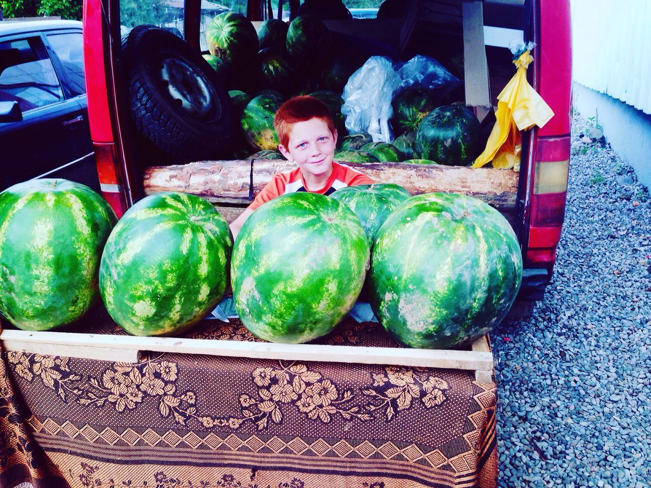 Watermelon Seller Redhead Redhear Young Boy Smile Aspindza Georgia Green Eyes Ilias <3 Showcase July IMography