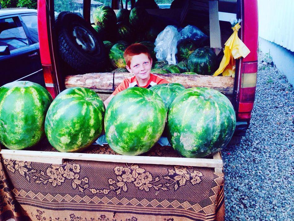 Watermelon Seller Redhead Redhear Young Boy Smile Aspindza Georgia Green Eyes Ilias <3 Showcase July IMography