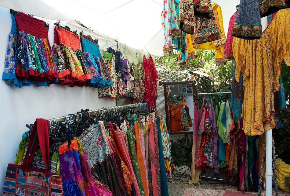 Bags Choice Collection Dresses Hanging Hippy Market Large Group Of Objects Las Dalias  Retail  San Carlos Ibiza