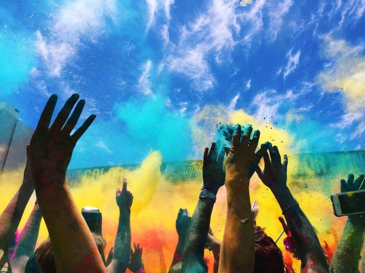 My Year My View Colour Run 2016 Perth Crowd Outdoors Colours Perth Run 5k Australia Perth CBD Vscocam