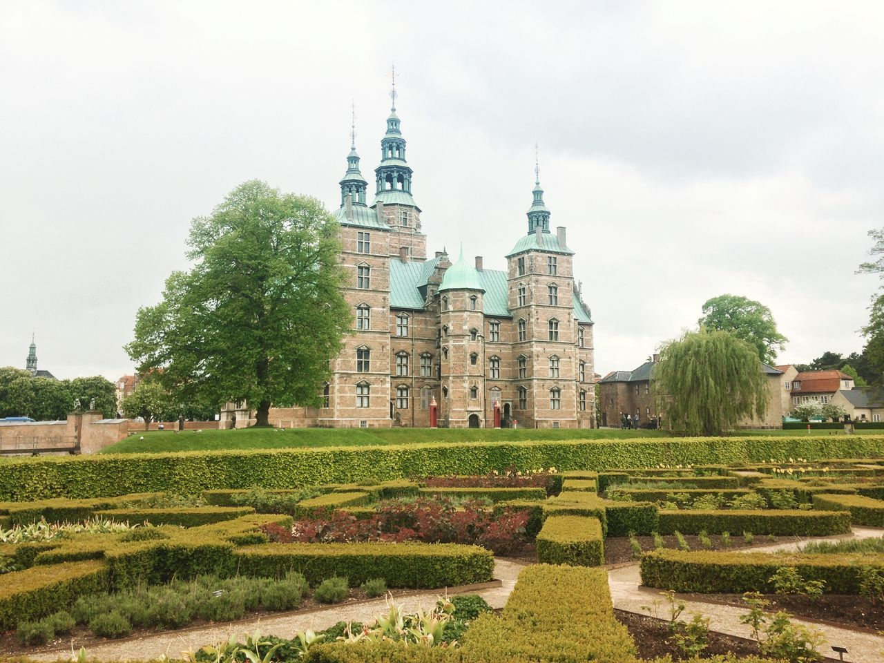 Rosenborg Castle in Copenhagen, Denmark Architecture Built Structure Cloud Cloud - Sky Copenhagen Danish Day Denmark Exterior Façade Grass Green Color Growth Lawn Nature No People Outdoors Plant Rosenborg Castle Rosenborg Slot Rosenborgcastlepark Sky Tourism Travel Destinations Tree
