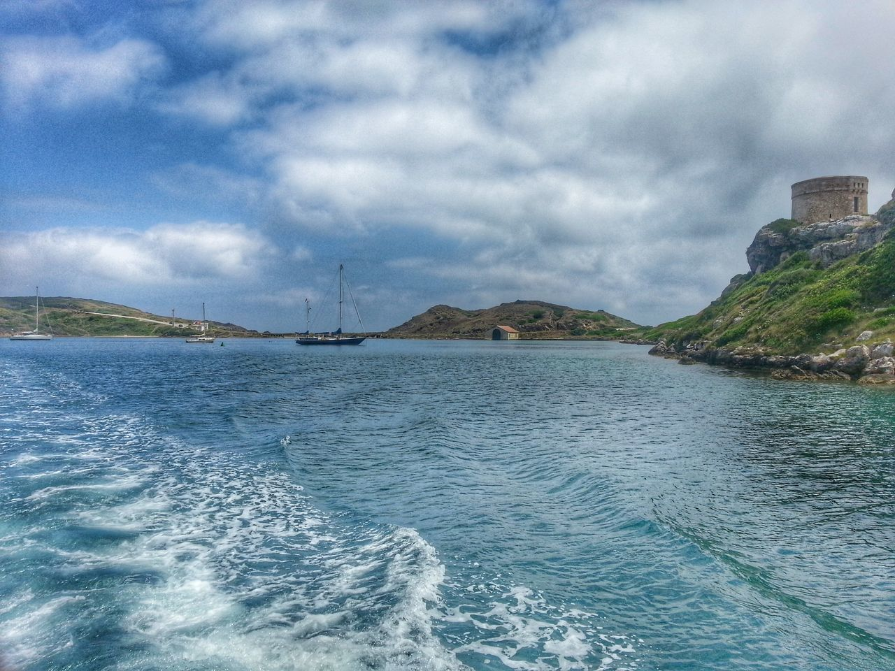 Landscape Seascape Blue Sky Seascape Photography Sea And Sky Seascape Waves Sky And Clouds Clouds And Sky Sky And Cloud Ruins Boat Waves Texture Mahón Mao Menorca Wanderlust Blue Sea Landscapes With WhiteWall Photography In Motion Blue Wave Feel The Journey