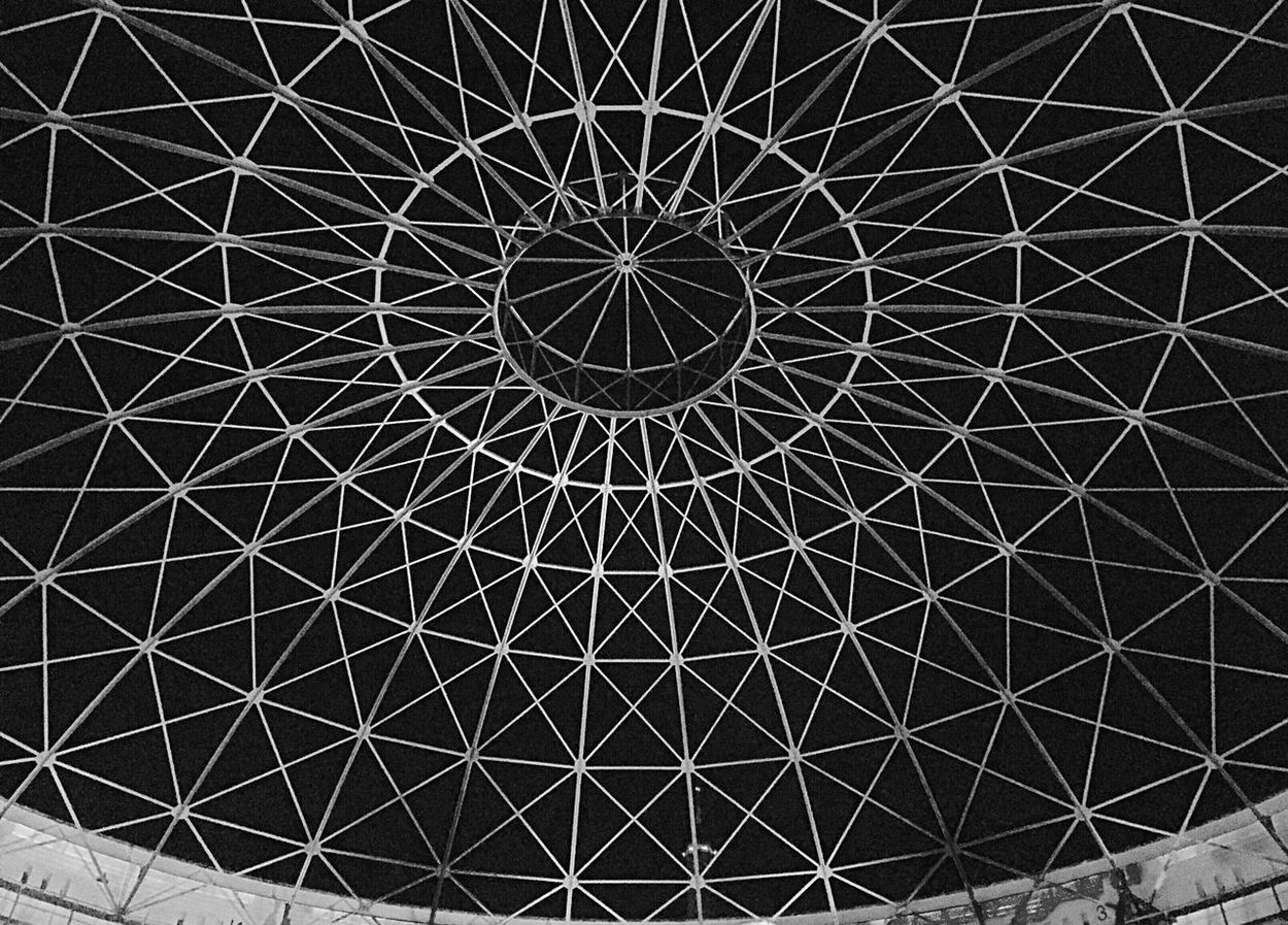 Architecture Built Structure Architectural Feature Architectural Design Black And White Photography Blackandwhite Photography Black And White Architecture Sky No People Outdoor Photography Gasometer Panometer Arena Leipzig Pattern Geometric Shape Asisi Asisi Panometer Pattern