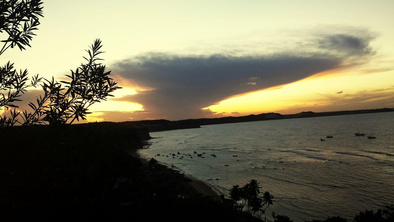 Sunsetphotographs Por Do Sol Sunset Beach Sky And Clouds Black And Orange (: Potpotography EyeEm Nature Lover Brasil ♥