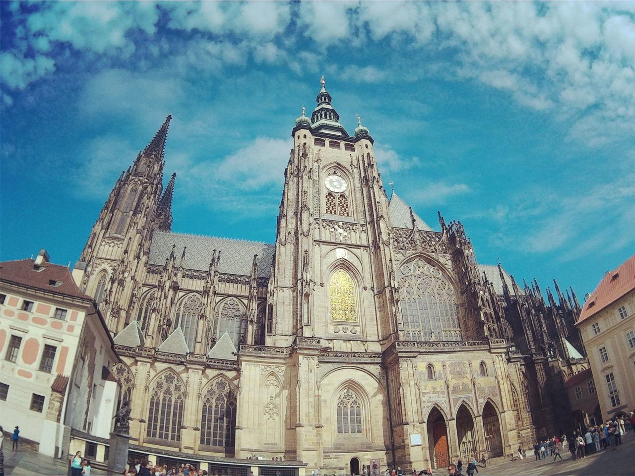 Architecture Architectural Column Tourism St Vitus Cathedra Prague Czech Republic Indoors  History Prague