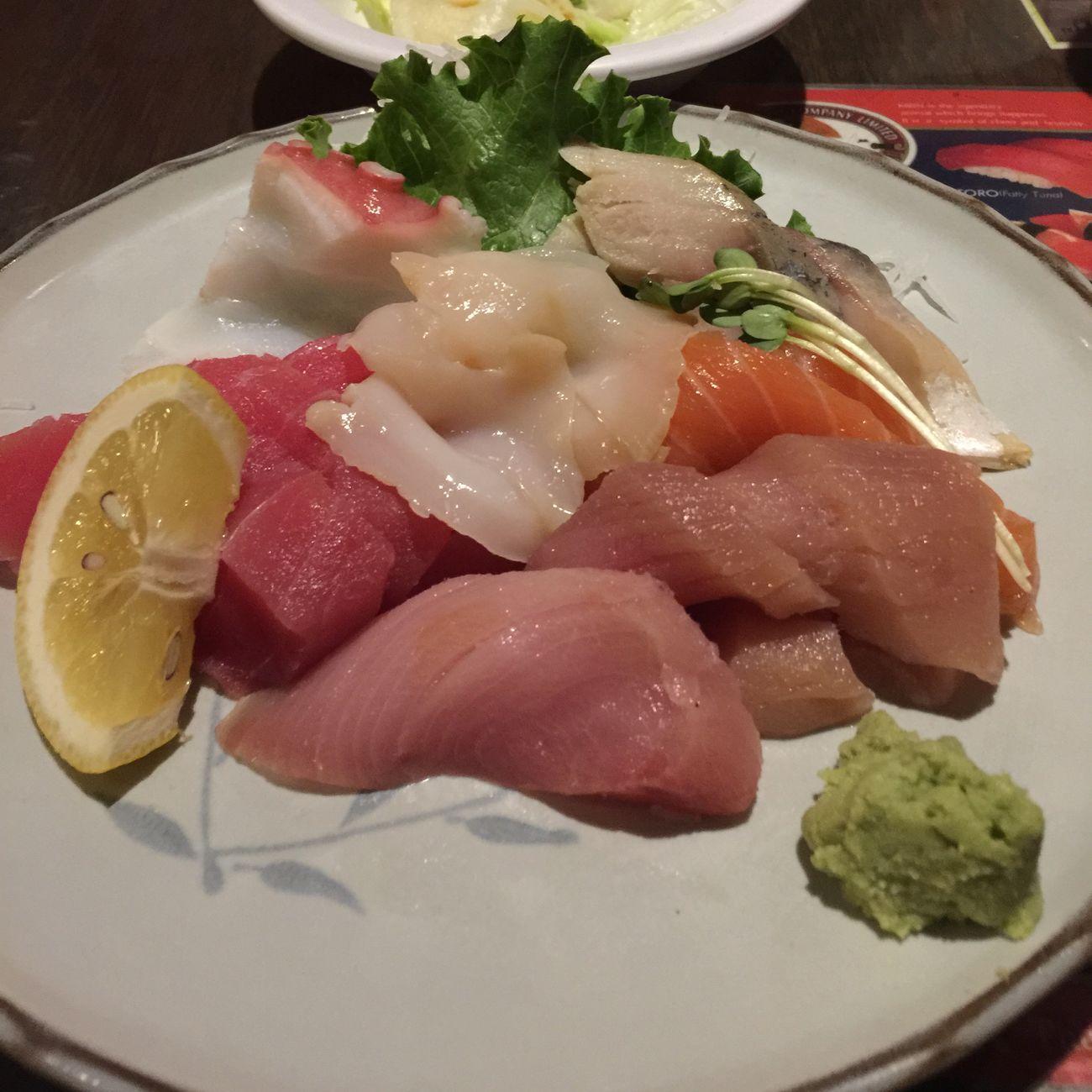 Sashimi  Eating Sushi