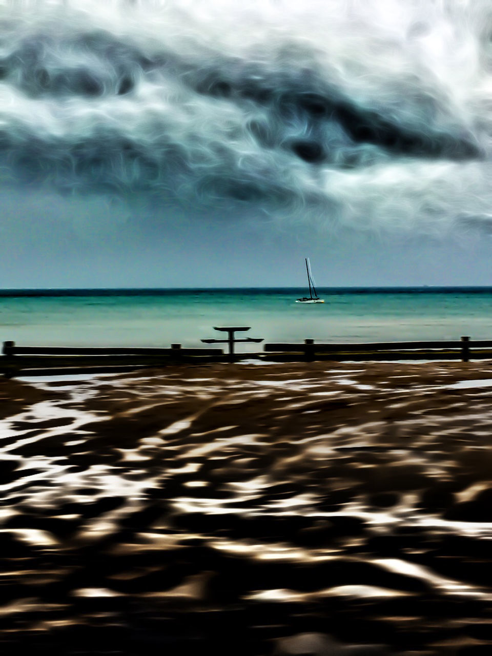 sea, water, sky, horizon over water, nature, cloud - sky, beauty in nature, scenics, tranquility, nautical vessel, outdoors, tranquil scene, beach, rippled, day, no people, waterfront, transportation