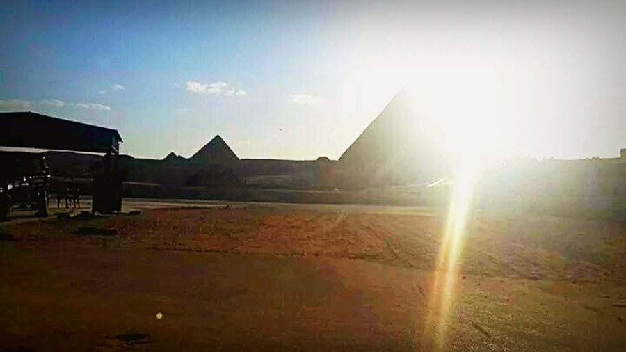 Pyramids Cairo Egypt Taking Pictures