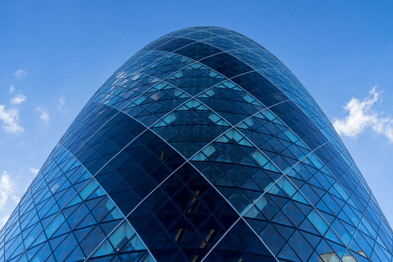 Architecture Architecture Blue Building Exterior Colors And Patterns Geometric Shape Gherkin Gherkin Building Gherkin Tower International Landmark Landmark London LONDON❤ Modern Office Building Outdoors Pattern Pieces Sonyalpha TakeoverContrast Tall - High Tower