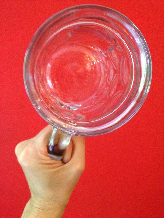 Hand Glass Beer Mug Mug Red