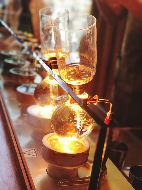 Coffee Siphon. Starbucks Roastery, Seattle Washington. June 2017. Indoors  Table Food And Drink Drinking Glass Drink Close-up No People Day Freshness Coffee Coffee Siphon Starbucks Coffee Roastery
