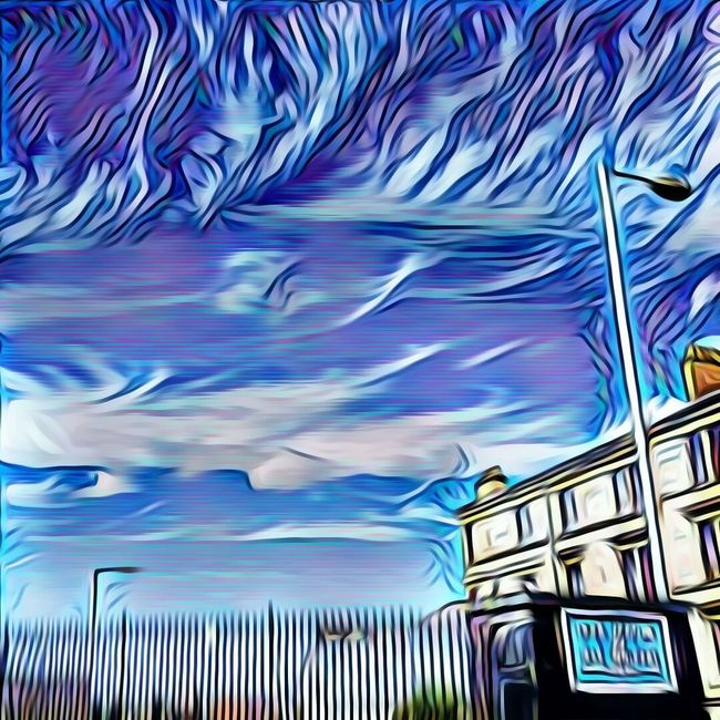 Prisma Blue Sky Going Back After Lunch Bloodylampposts