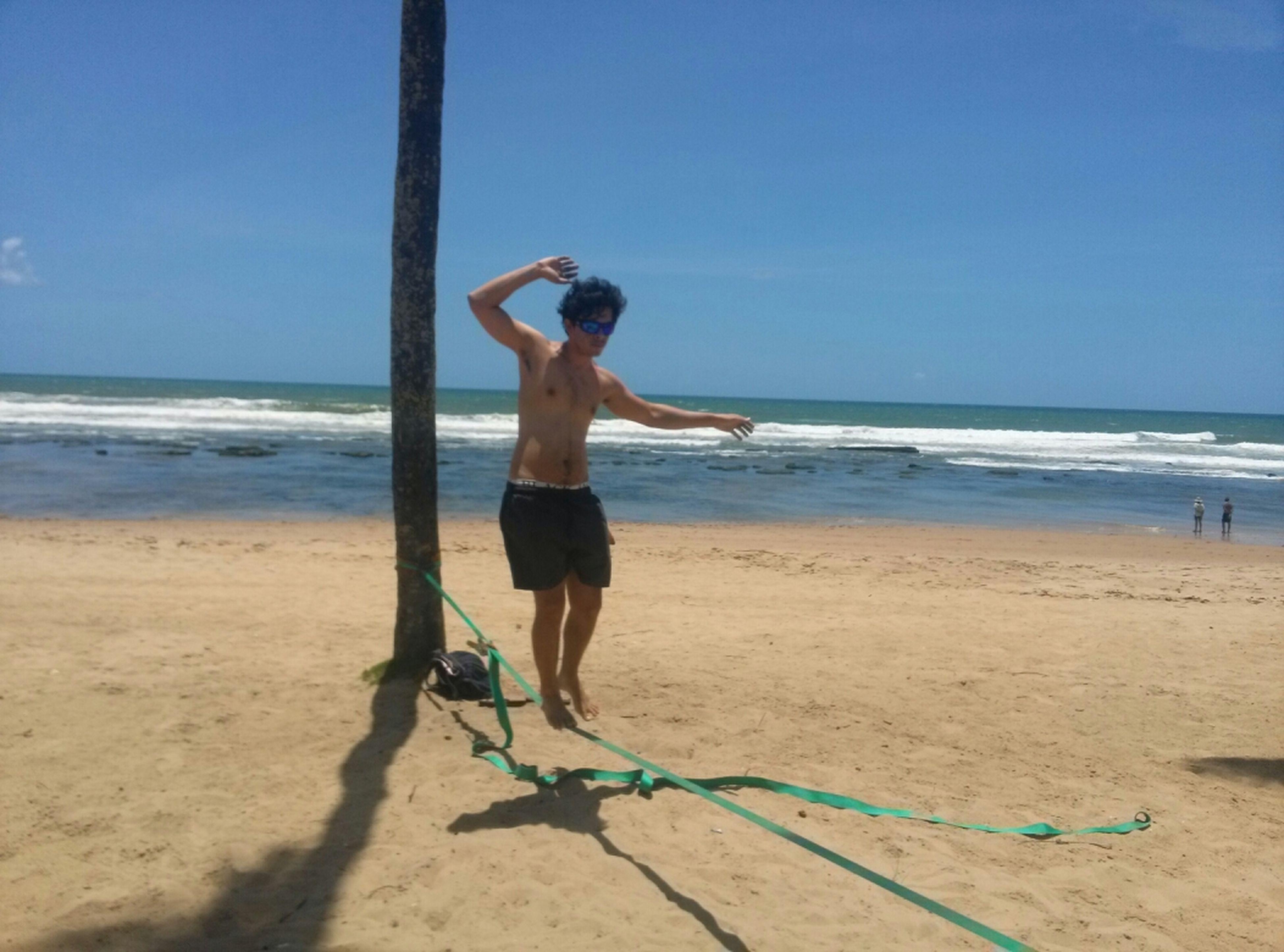 Slackline Life Is A Beach Enjoying Life