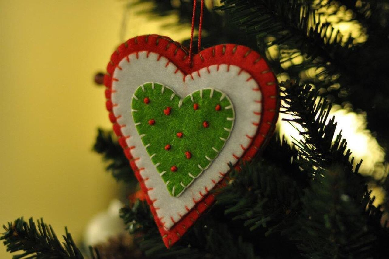 Tree Heart Shape No People Close-up Nature Beauty In Nature Indoors  Day Christmas Tree Christmas Decoration