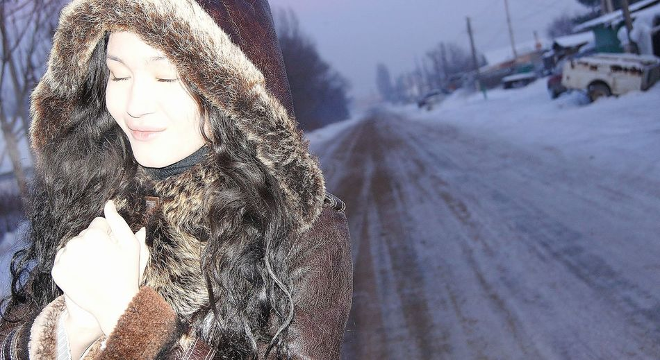 Cold Temperature Curly Hair Girls <3 Free Freezing Out Frozen Outdoors Person Season  Snow Standing Outside In Winter Weather White Color Winter Working Young Girl People And Places