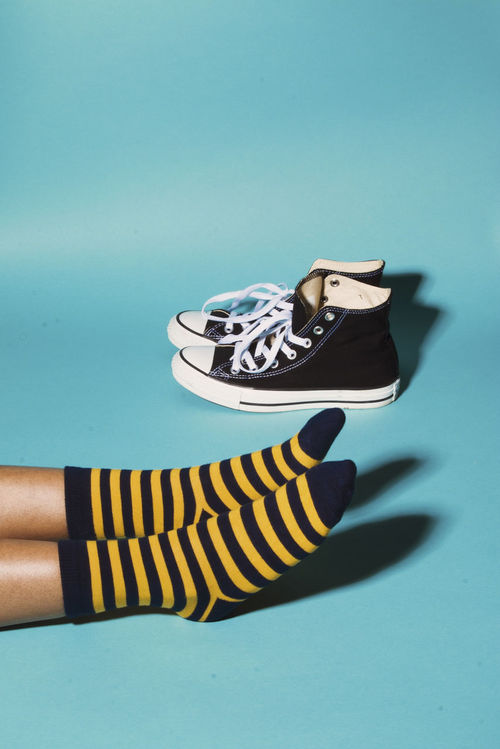 Stripes and Hi Tops Blue Background Converse Converse All Star High Top Shoes High Tops Lifestyles Personal Perspective Stripes, Social Media Collection