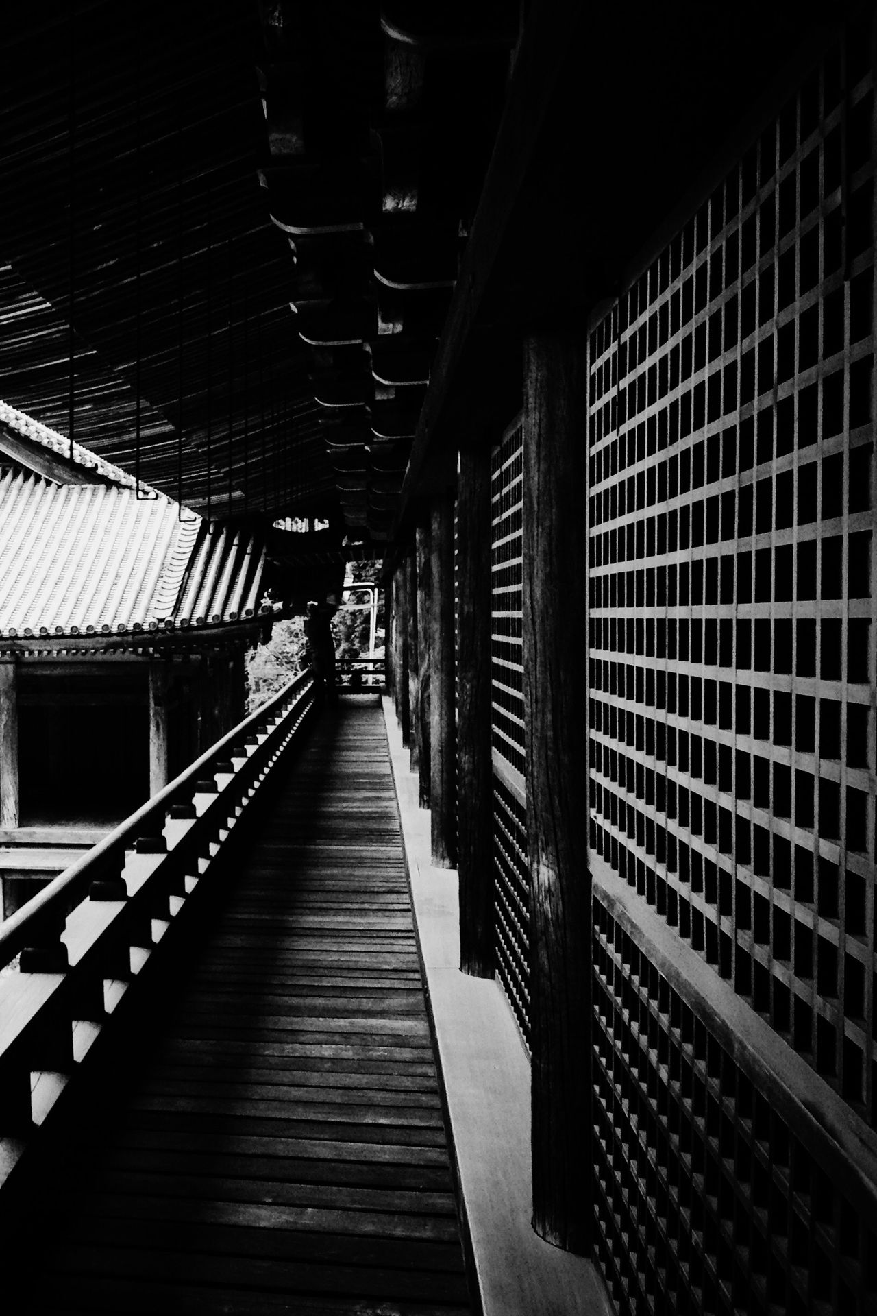 The Way Forward Indoors  No People Architecture Day Windows Doors Walkway Japan Japanese Style Japanese Culture Black And White Blackandwhite Building Exterior Built Structure Building Light And Shadow Temple Temple Architecture