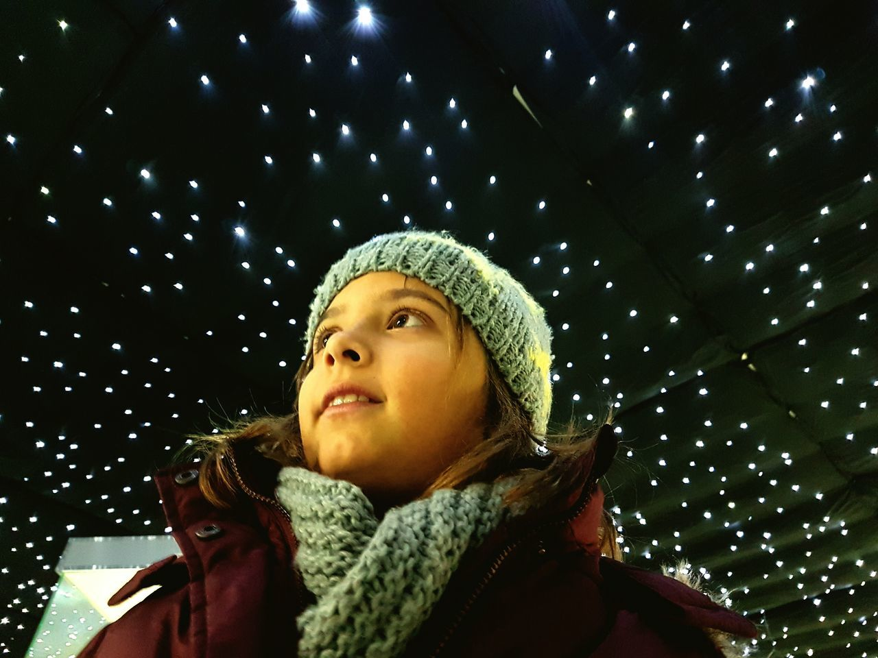 Night Warm Clothing Space Star - Space Astronomy One Person Kidsphotography Daugther My Angel My Angel Daughter♡ First First Eyeem Photo Samsung Galaxy S7 Edge FirstEyeEmPic The Photographer