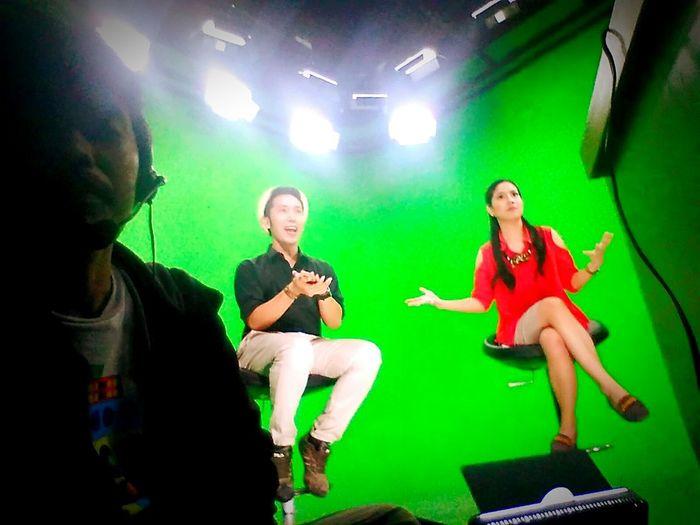 Another shoot in green screen Tvproduction Greenscreenstudio Jakartavideoproduction Lightings
