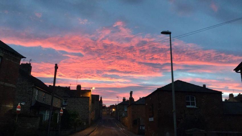 Cloud - Sky Sky Sunset Outdoors Town Evening Sky Evening Light Colours