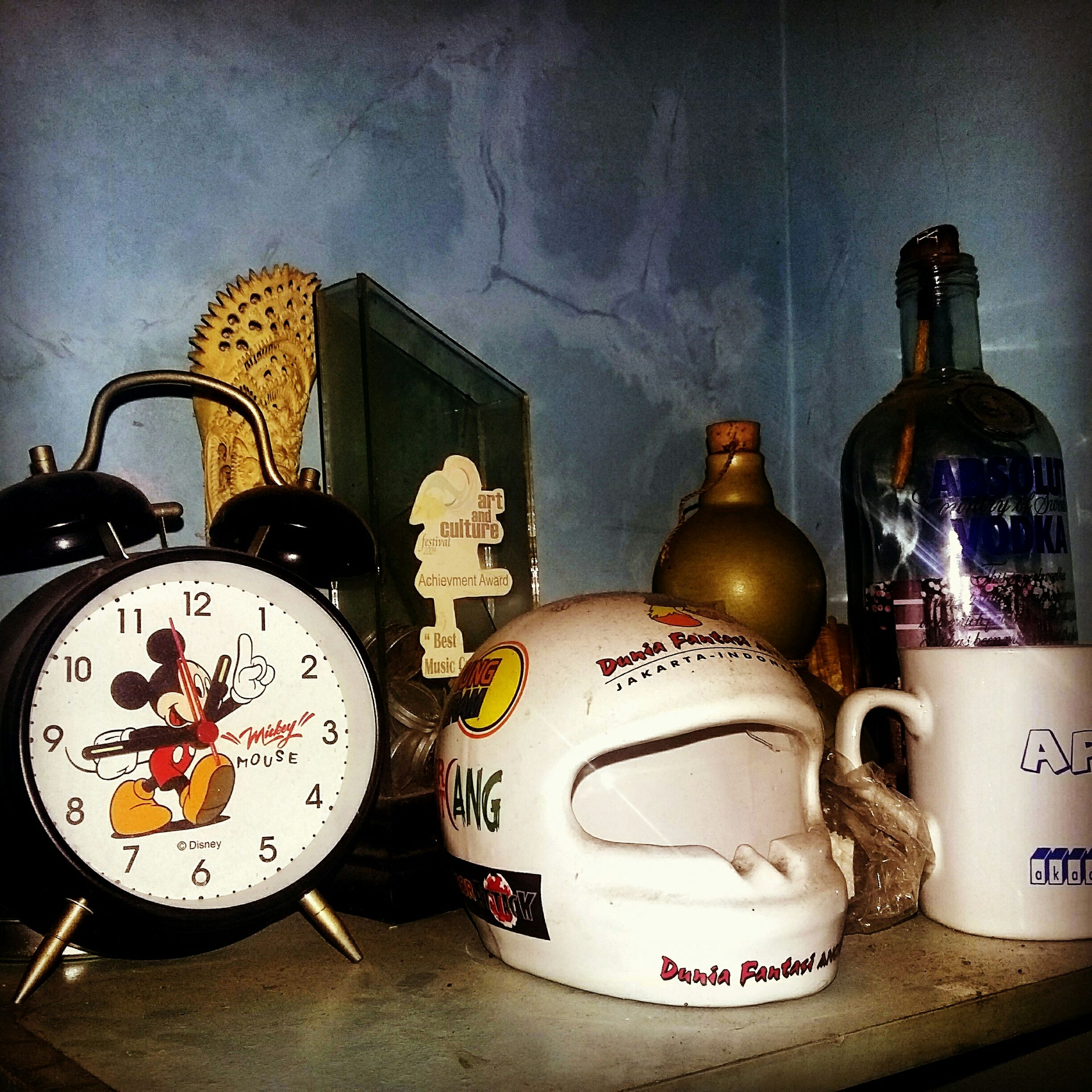 indoors, communication, clock, text, old-fashioned, retro styled, time, number, antique, still life, wall - building feature, western script, technology, table, no people, close-up, religion, accuracy, old