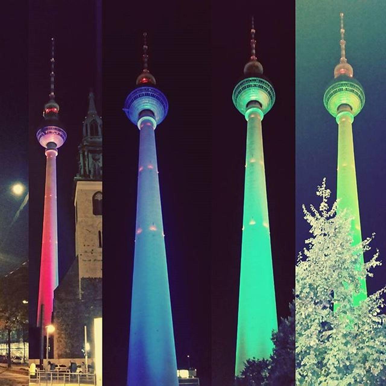 Kolory Alexanderlplatz Berlin Igła Fernsehturm