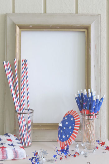 Celebration Absence Arrangement Blank Decor Decoration Empty Food And Drink Frame July4th Menu Organized Party Plant Still Life Wood - Material