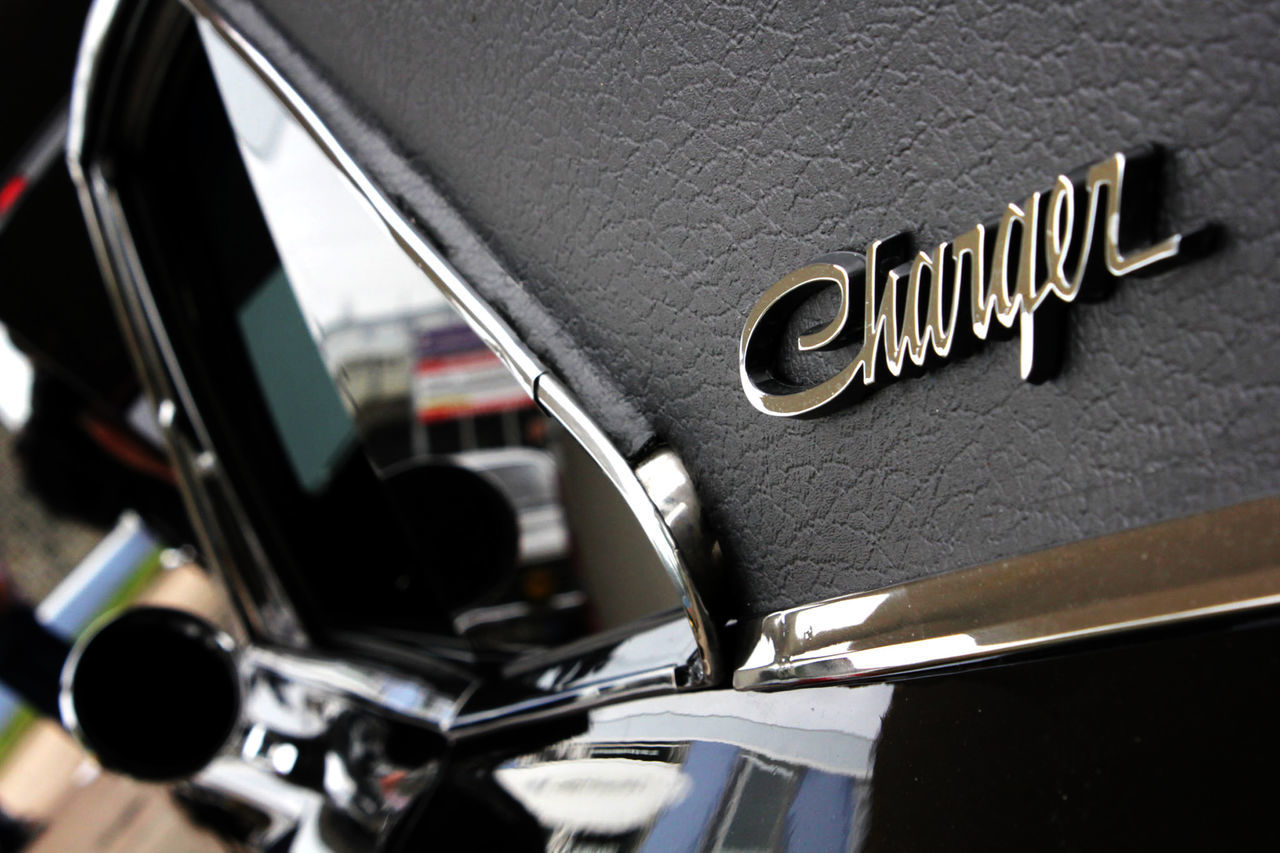 Car Close-up Day Dodge Charger Fuel And Power Generation Fuel Station Gas Gas Station Muscle Cars No People Oldtimer Outdoors Transportation Vehicle Mirror Vintage Vintage Cars