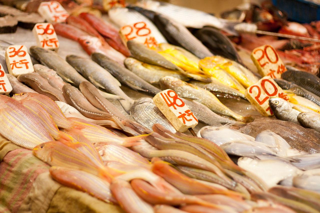 Fish for sale at Wan Chai market, Hong Kong Fish Fish Stall Food Food And Drink Hong Kong Market Market Stall Seafood Wan Chai Wan Chai Market