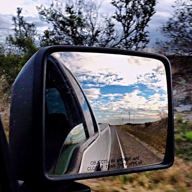 Rearview Rearviewmirror Rearviewmirrorshot FordF150 Simple Things In Life Blue Sky Popcorn Clouds Simply Beautiful Country Life Countryside Texas Skies Texaslandscape Simple Photography Simplephotography Motionphotography Myview