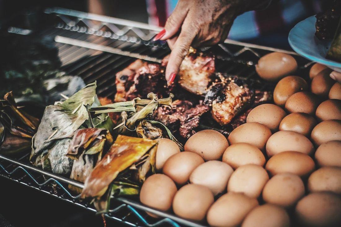 Thaifood Thaifooddelicious Streetfood Egg Grill Pork Grill Food