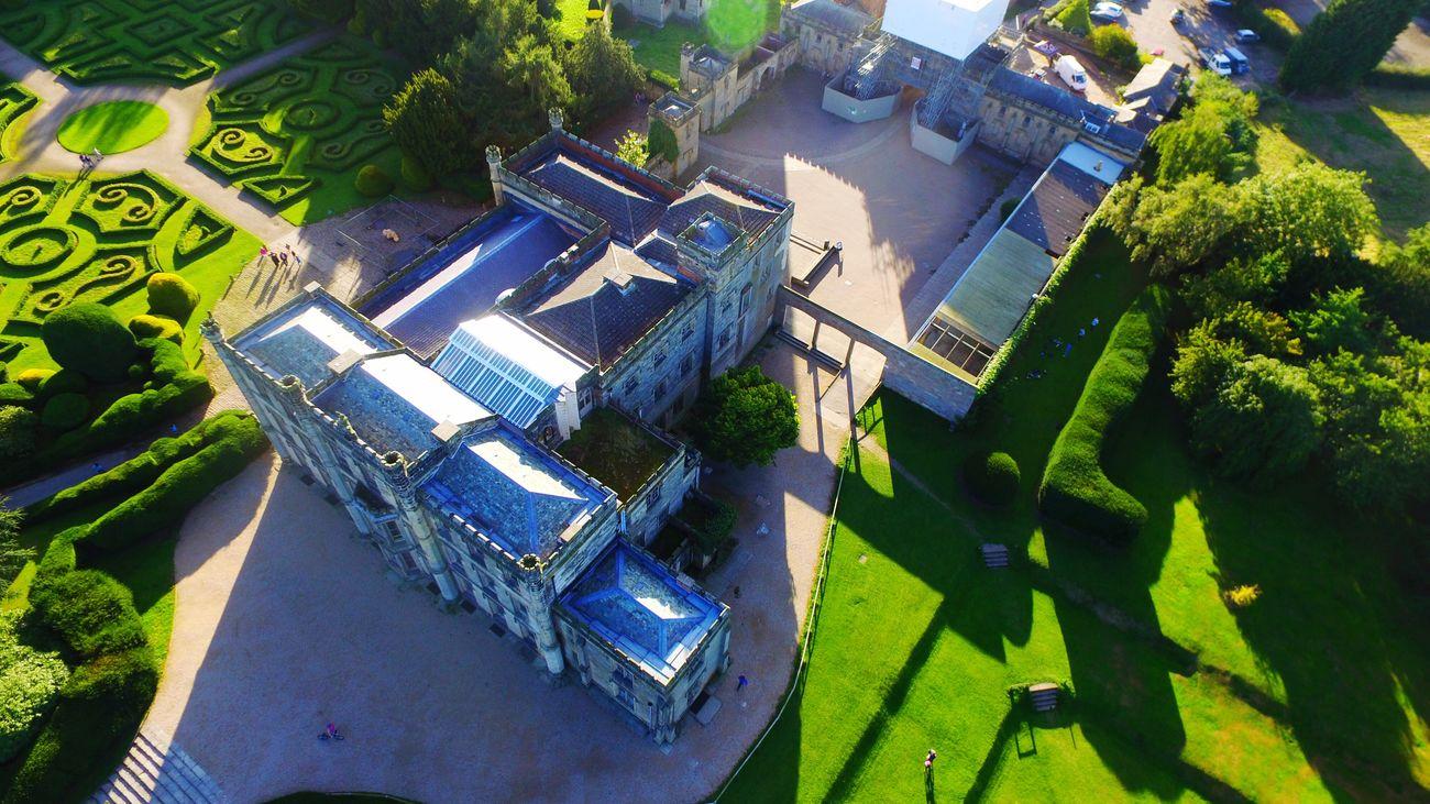 A Castle. Castle Drone  Modern Dronephotography
