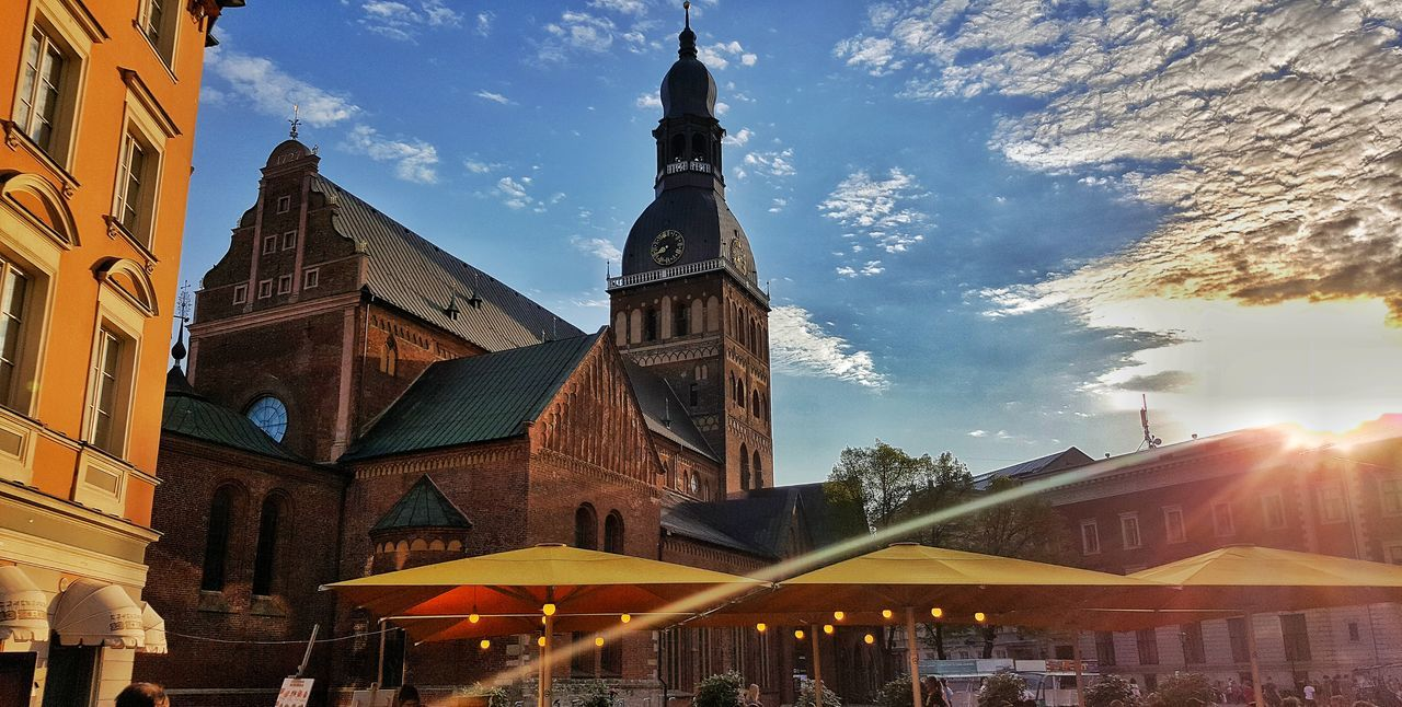 Architecture Religion Sky Travel Destinations Outdoors Day Built Structure No People Building Exterior Riga Latvia Riga Nature Architecture Cloud - Sky