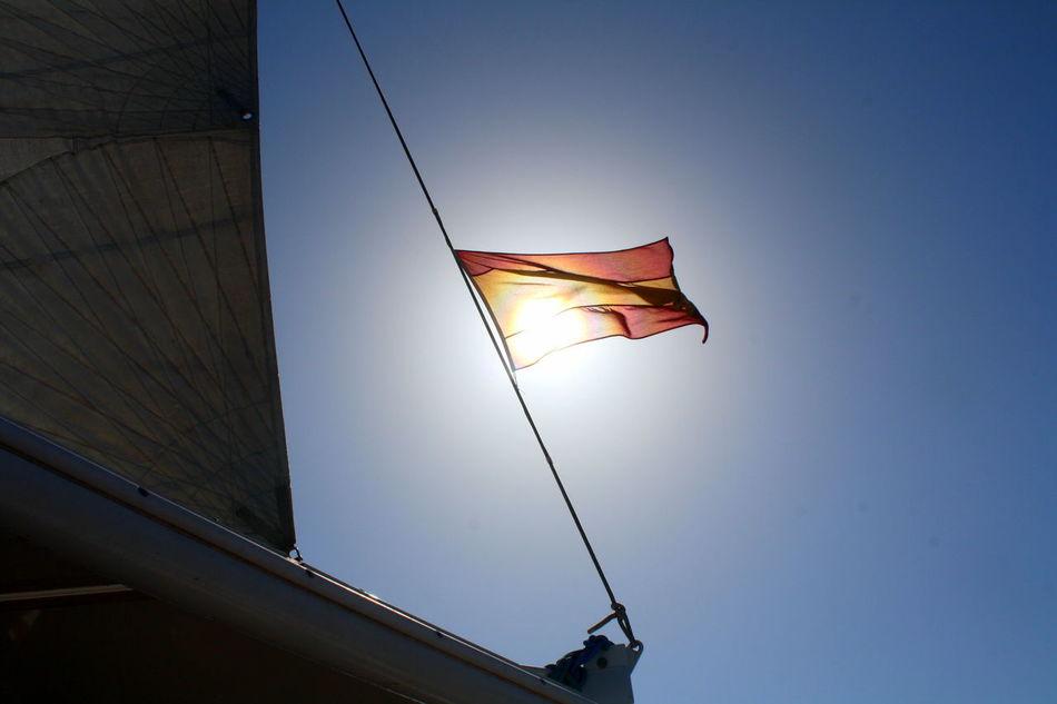 Beautiful stock photos of sky, flag, patriotism, low angle view, sunlight