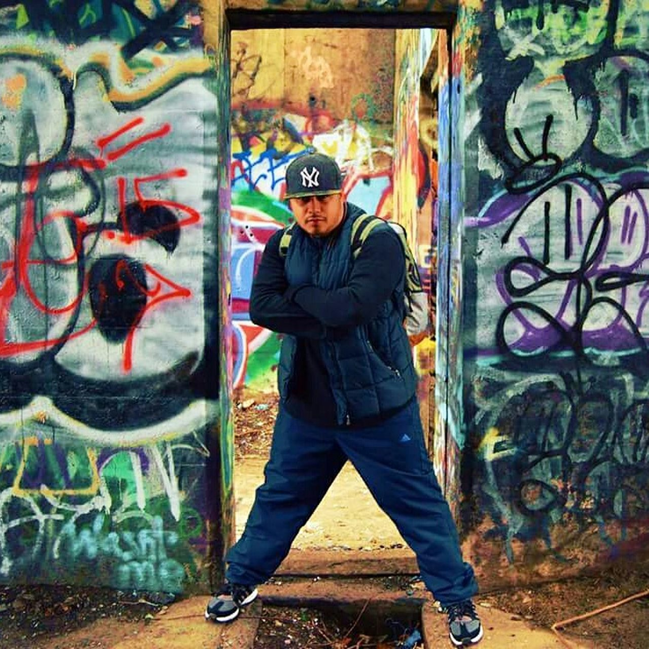 The Traveler - 2015 EyeEm Awards Urban Photography Graffiti Pier Graffiti Abandoned Places Urban Art Get Lost Urban Exploration