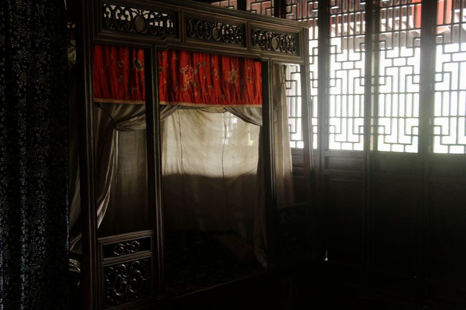 Beauty Of China Beauty Of Decay Bedroom Classic Curtain Curtains Drapes  Furniture Indoors  No People Old House Old Time Old-fashioned Oriental Oriental Design Oriental Style Style Of China Window Wood - Material Wooden Wooden Bed Wooden House The Secret Spaces