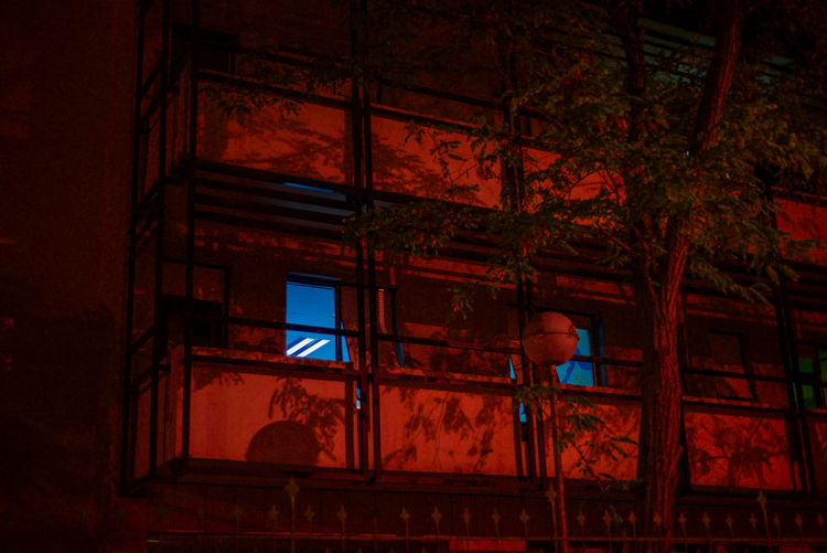 ColourPhotography Colours Night Lights Nightphotography Nikon VSCO Architecture Building Exterior Built Structure Low Angle View Neon Neon Life Neon Lights Night Nikonphotography No People Outdoors Red Window