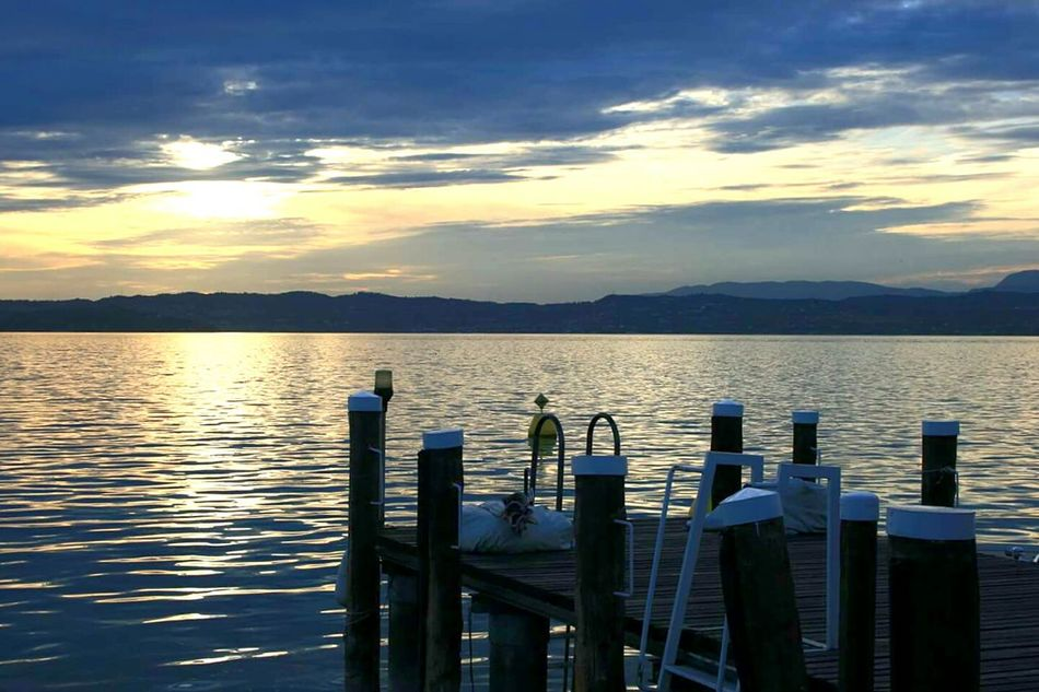 Gardalake Garda Lake Italy Lago Di Garda Italy Lake Sunset Water Outdoors Mountain Tranquility Scenics Sky Nature No People