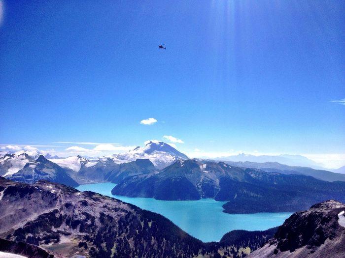 Hiking Black Tusk between Squamish and Whistler, BC. Lake Mountains Sun Hiking