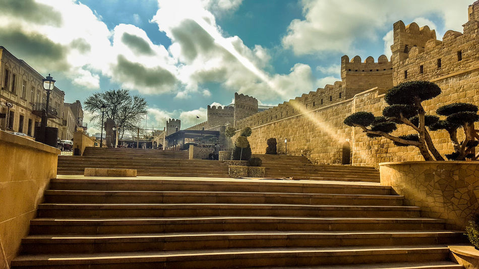 Old City History Travel Travel Destinations Gold Colored Cultures Architecture City No People Place Of Worship Sky Gold Outdoors Cityscape Day Azerbaijan Baku