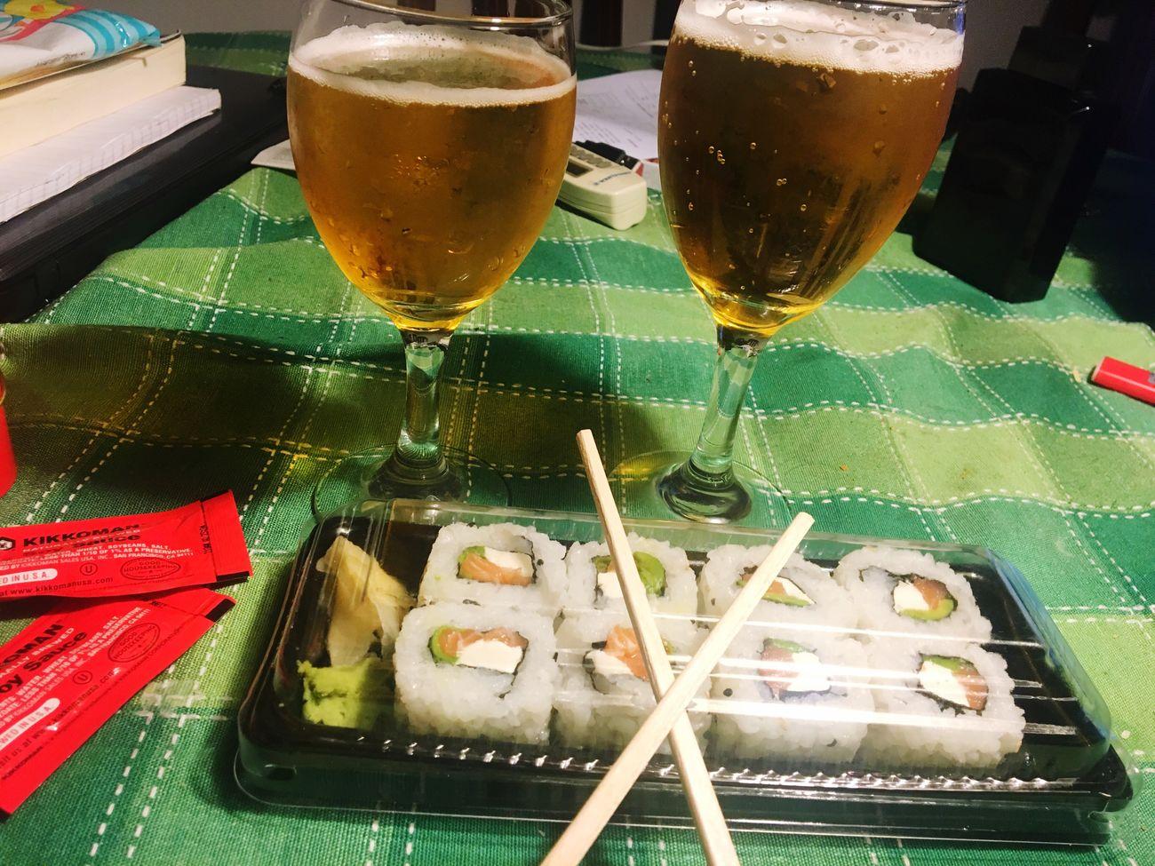 Noche Cerveza Sushi 😋