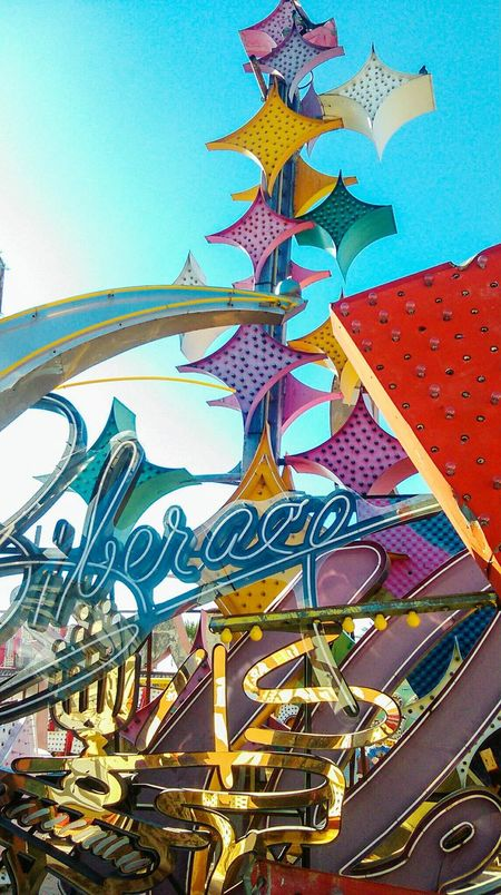 No People Outdoors Day Close-up Architecture Sky Museum Las Vegas Neon Sign Neon Museum City Travel Built Structure Low Angle View Modern History Travel Destinations